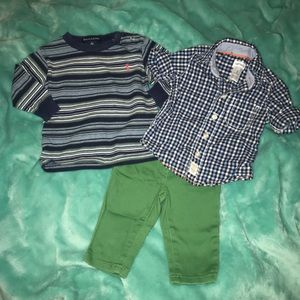 Ralph Lauren Baby Boy Outfit 0-3 Months. Set of 3